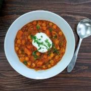 Morrocan pumpkin vegetarian stew.