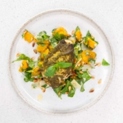 Pesto chicken and butternut squash salad.