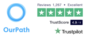 OurPath Trustpilot rating