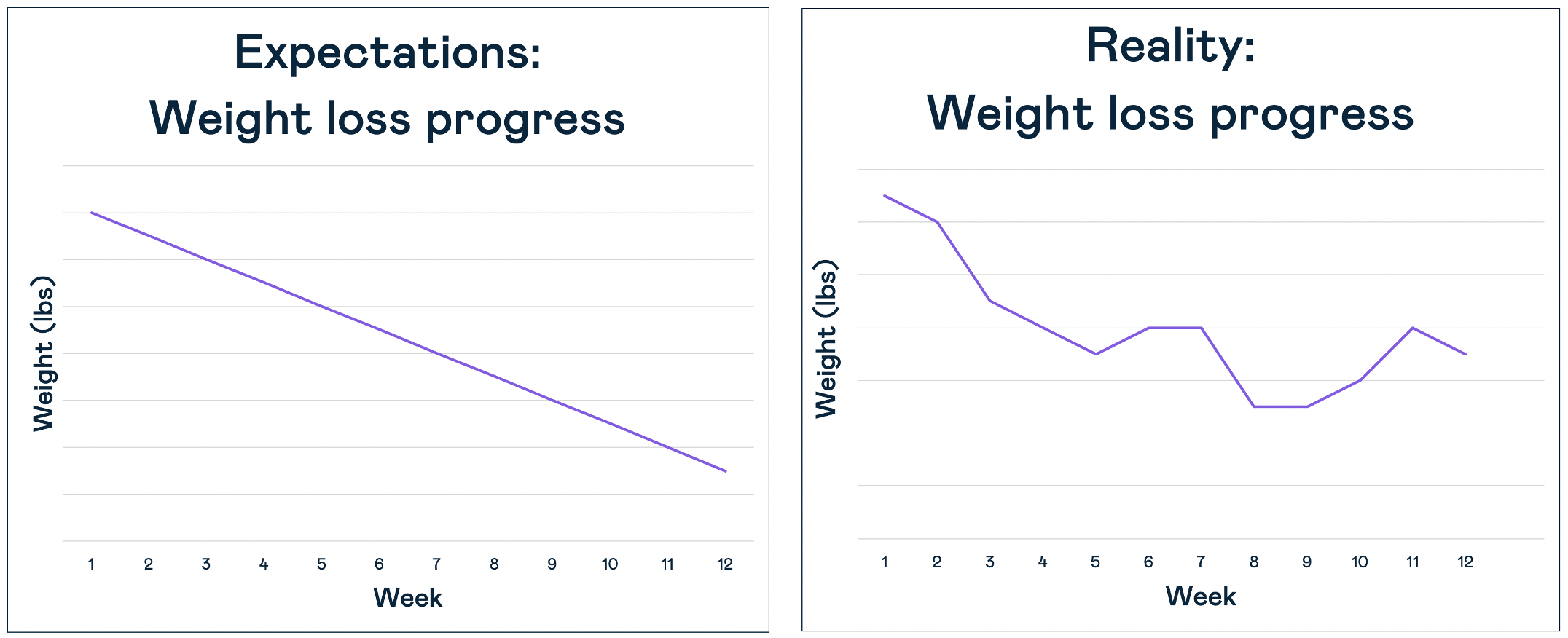 Weight loss plateau graphs