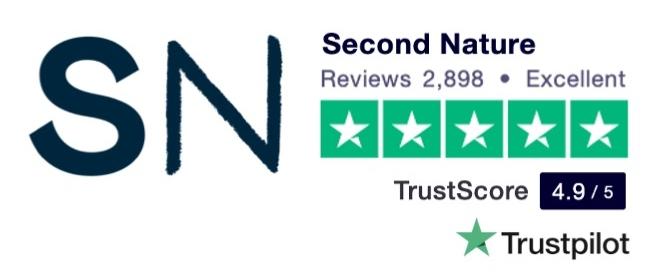 Trustpilot review score for Second Nature