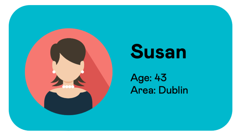 Info card for Susan, a Second Nature user from Dublin